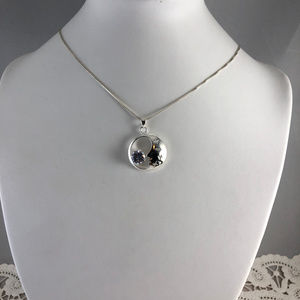 Moon Glow 7.5MM Cubic Zircona 925 Silver Necklace